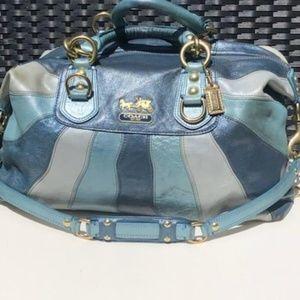 Authentic Multi Colored Coach Bag